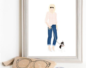 Though Very Humble : Custom Paper Doll 8x10 Portrait Illustration