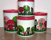 Canisters - Pink Mushrooms By Royal Terry Of California