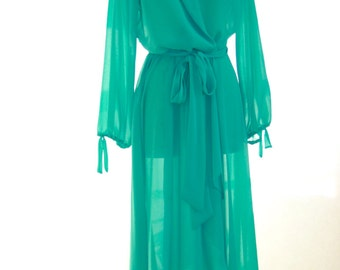Sea Foam Green Dress from luxury store in Colorado Springs - Size 6-8 Sheer