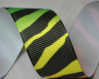 Neon Zebra Print -  2 yards, 7/8 inch wide
