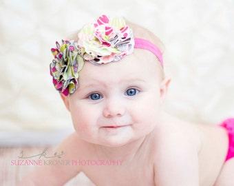 April- Fabric Flowers Headband