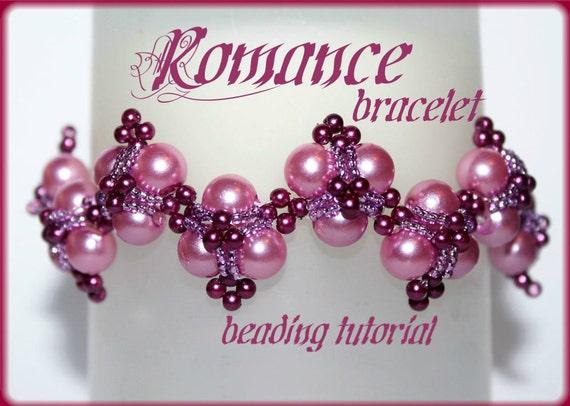 Romance pearl bracelet Beading Pattern PDF bracelet or necklace beading pattern tutorial technique