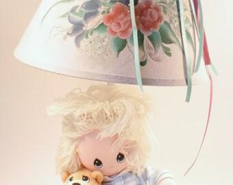 Vintage Lamp, Girls Lamp, Doll and Teddy Bear Light