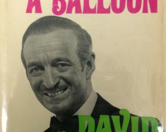 Vintage First Edition David Niven Autobiography, 'The Moon's a Balloon' 1972