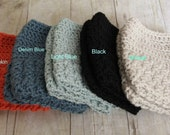 Boot Cuffs Crocheted in Shell Stitch, Choose Your Color