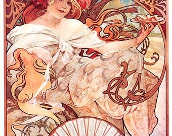 Art Nouveau Vintage Advertising Alphonse Mucha Digital Download Print