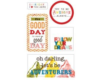 50% Off - Glitz Design Color Me Happy Title Stickers -- MSRP 4.00