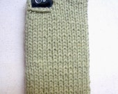 Fall Sample Sale: CELERY light green knit sweater phone case for iphone 3G 3GS 4 4S