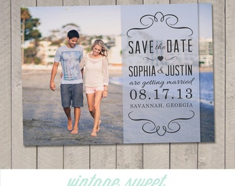 Save the Date Magnet / Card (Printable) by Vintage Sweet