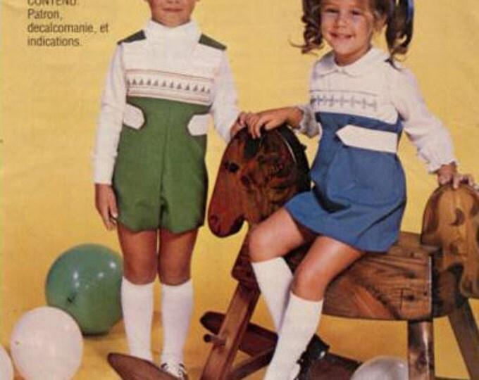 Smocked Pattern / Boys Pattern / Vintage Pattern / Romper Pattern