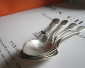 FRENCH Antique SPOONS // Silver plate