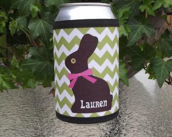 Personalized Chocolate Bunny Wrap Beverage Insulator
