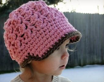 Crochet Baby Hat, kids hat, crochet newsboy hat, hat for boys