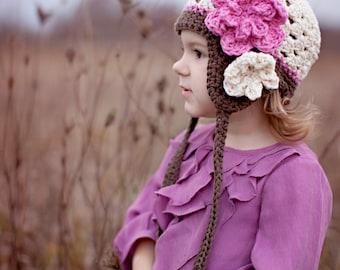 girls hat, baby hat, girl hat, winter hat, baby hat, kids hat, baby girl hat, newborn girl hat, crochet girls hat, baby girls hat