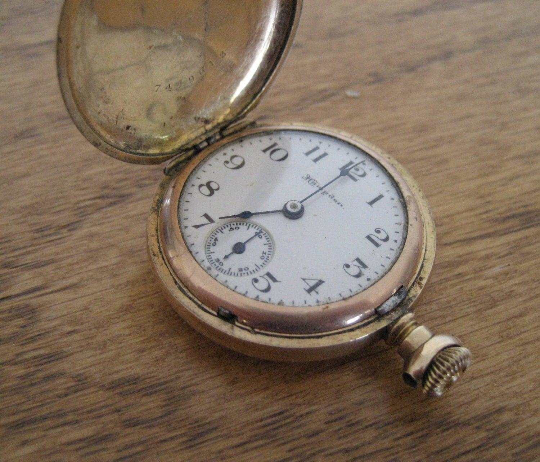 antique gold mens pocket hden sidewinder dueber