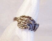 Silver Spoon Ring: Sterling Silver Size 5 1/4 Vintage Ring - A2007