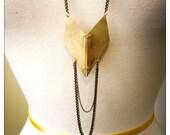 Star Fox Necklace // Hand-cut Brass Diamonds