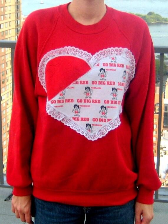 Heart on for Nebraska Sweatshirt