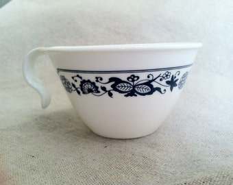 Vintage Old Town Blue Floral Pattern Corelle by Corning Tea Cups- Set of 4