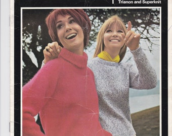 On Sale - Villawool Classic Knits Lady's Raglan Style Sweater (Size 32 to 46 inch bust) Knitting Pattern Book No 165 Vintage 1970s