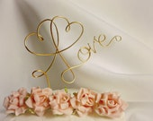 Gold Wedding Cake Topper, Love, As Seen In San Diego Style Weddings