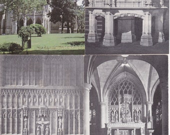 Lot of 4 Washington Cathedral Topographical Postcards - 172