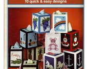 Tissue Boxes in Plastic Canvas Pattern Book Needleworks NO. 117