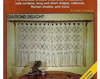 Macrame Window Dressings Macrame  Pattern Book Plaid 7308