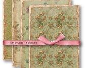 Instant download - Shabby Floral Background - Digital Collage Sheet Set 596 - Instant Download Printables