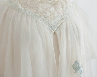 1950s Vintage Lingerie /  Peignoir Robe / GOTHAM / Lace - Chiffon - Elegant and highly collectible Gotham Lingerie form the 1950's.
