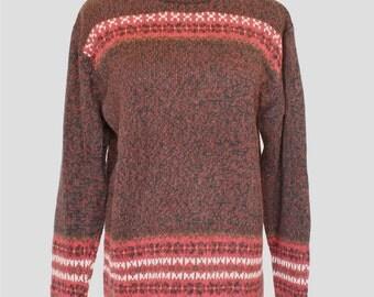 Vintage Sweater, Pullover Sweater, Mock Turtleneck Sweater
