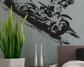 Motocross Racing - uBer Decals Wall Decal Vinyl Decor Art Sticker Removable Mural Modern A856