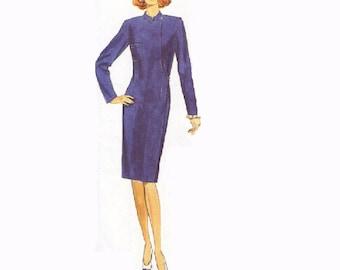 Butterick Sewing Pattern Modern Style Classic Wrap Dress Designer Fashion Standing Collar Uncut FF Bust 34