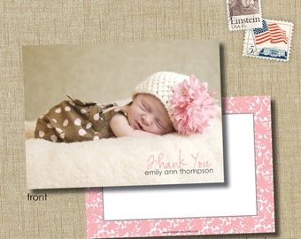 Baby Photo Thank You Cards.  Baby Stationery