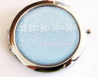 Bridesmaid mirror, Compact Mirror, mirror, bridal shower, Bridesmaid gift, wedding shower gift, Wedding party, Personalized, custom  (2184)