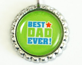 Best Dad Ever, Bookmark for Dad, bookmark, Gift for Dad, book mark, Shepherd Hook, Fathers Day Gift, green (2546)