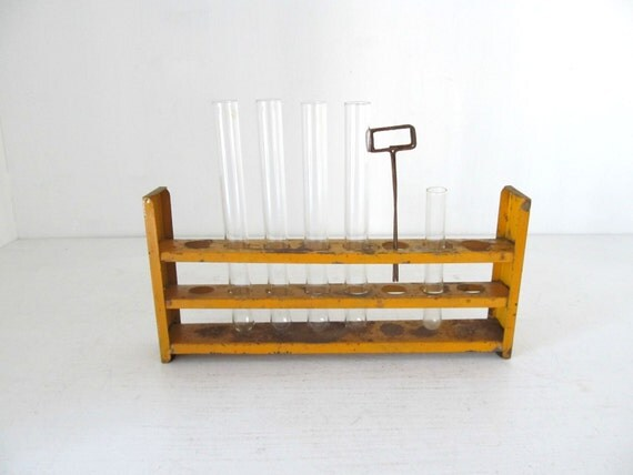 HOLD FOR MATTAORR Vintage Chemistry Test Tube Rack Holder