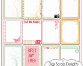 Pretty Pocket Journal Cards Set 4, Project Life Inspired 3x4 Printable PDF & PNG, Digital Scrapbooking, Instant Download