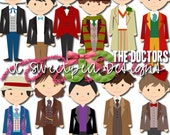 Doctor Who The Doctors Clip Art Commercial or Personal Use - INSTANT DOWNLOAD