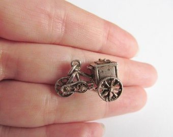 Vintage Sterling Silver Ice Cream Seller Trike Charm