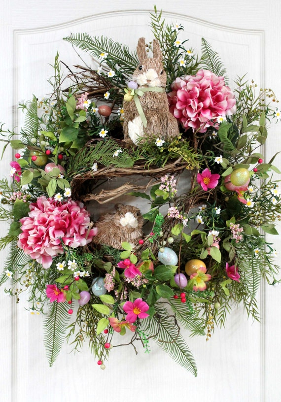 printable easter wreaths items similar to easter wreath primitive country wreath 2763