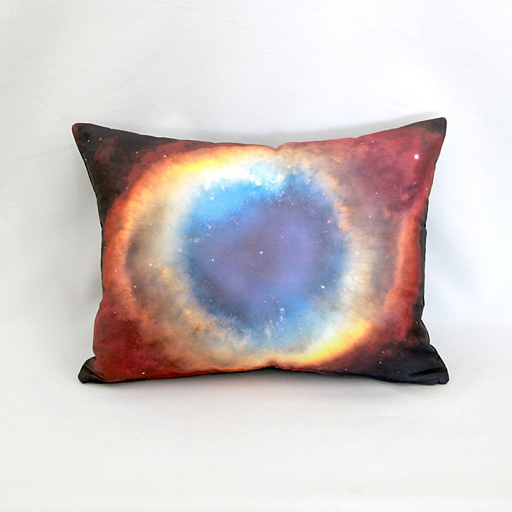 Helix nebula rainbow space object pillow nasa outer space for Outer space fabric uk