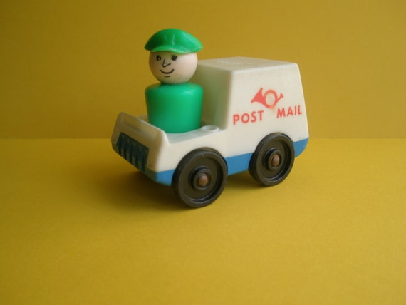Old Toys From The 70s : S fisher price vintage toy set truck and figure mailman