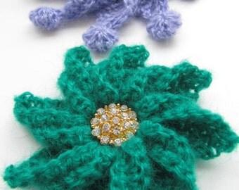 Crochet Craft Supply-Crochet PATTERN-Crochet Brooch-Flower Brooch-DIY Crafts-Crochet Jewelry-DIY Gift-Instant Download Pdf Pattern No.89