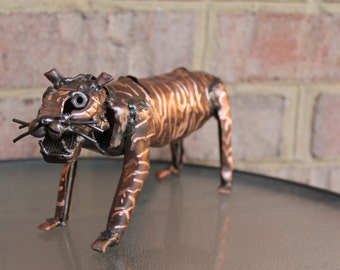 Sansa The Tiger, Recycled Metal Sculpture