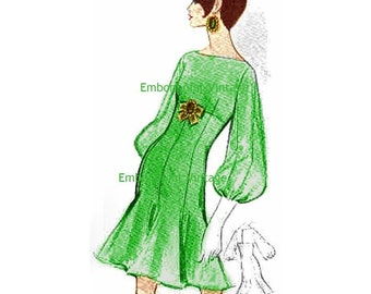 Plus Size (or any size) Vintage 1969 Dress Pattern - PDF - Pattern No 141 Nanette