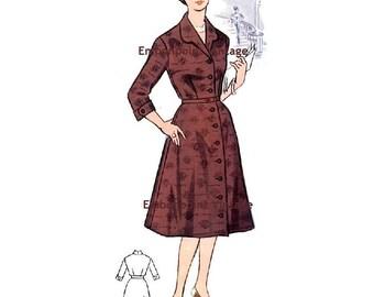 Plus Size (or any size) Vintage 1950s Dress Pattern - PDF - Pattern No 37: Judith