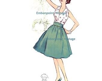 Plus Size (or any size) Vintage 1950s Dress Pattern - PDF - Pattern No 6: Barbara