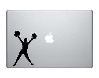 Cheerleader Pompoms Up Version 2 Macbook and Car Decal