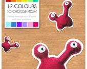 "Mini Felt Monster Plush Toy by BABUA - ""Oli"" - 12 Colors"